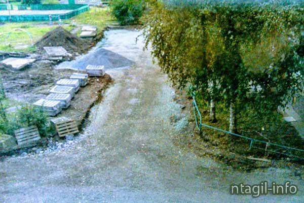 ГГМ, Уральский проспект д. 58 начали ремонт дворовой территории... Но почему то всё резко остановилось