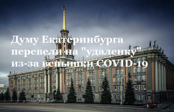 "Думу Екатеринбурга перевели на ""удаленку"" из-за вспышки COVID-19"